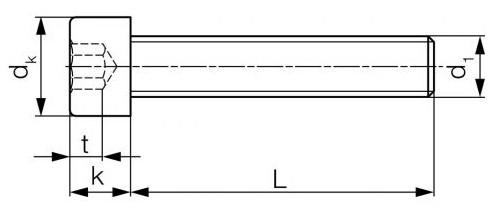Śruba ISO 4762,DIN 912 PG kl.8.8 Ocynk Galwaniczny M18-M36