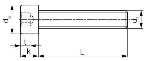 Śruba ISO 4762,DIN 912 PG kl.12.9 Bez Pokrycia M2-M14