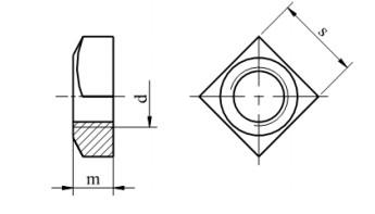 Nakrętka kwadratowa DIN 557 stal nierdzewna A2