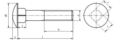 Śruba DIN 603 NG kl.4.8 Ocynk Galwaniczny