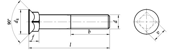 Śruba płużna DIN 608 PG kl.8.8 Bez Pokrycia