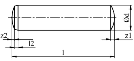 Kołek walcowy hartowany DIN 6325 Bez Pokrycia