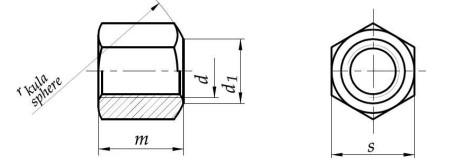 Nakrętka 1,5d DIN 6330 kl.10 Bez Pokrycia