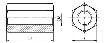 Nakrętka DIN 6334 Ocynk Galwaniczny