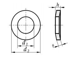 Podkładka podatna stożkowa DIN 6796 Ocynk Mechaniczny M4-M16