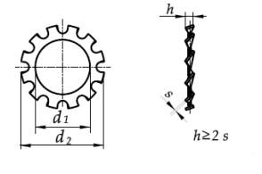 Podkładka DIN 6797A Ocynk Galwaniczny M12-M30