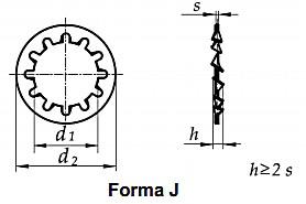 Podkładka DIN 6797J Ocynk Galwanicznyl M14-M30