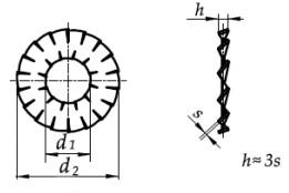 Podkładka DIN 6798DD Ocynk Galwanicznyl M4-M16