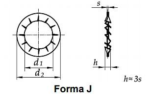 Podkładka DIN 6798J Ocynk Galwaniczny M14-M30