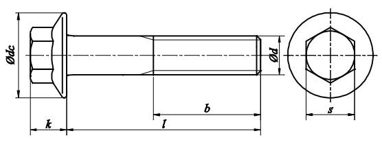Śruba DIN 6921 PG (DROBNOZWOJNA) kl.10.9 Ocynk Płatkowy