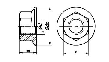 Nakrętka DIN 6923 kl.8 Ocynk Galwaniczny ZĄBKOWANA