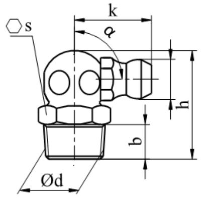 Smarowniczka z główką stożkową, kątowe 90° DIN 71412 C stal nierdzewna A1