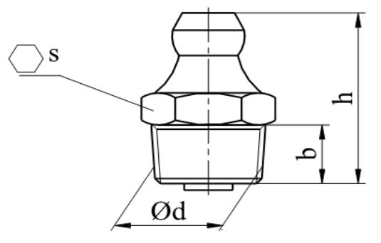 Smarowniczki z główką stożkową, proste 180° DIN 71412 A stal nierdzewna A1