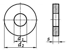 Podkładka DIN 7349 Ocynk Galwaniczny M3-M14