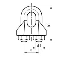 Zacisk kabłąkowy do liny DIN 741 Ocynk Galwaniczny