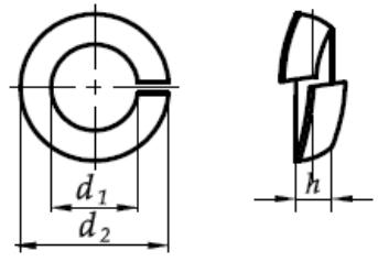 Podkładka okrągła sprężysta do kół DIN 74361C Ocynk Płatkowy
