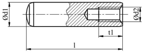 Kołek walcowy hartowany z gwintem wewnętrznym DIN 7979D Bez Pokrycia
