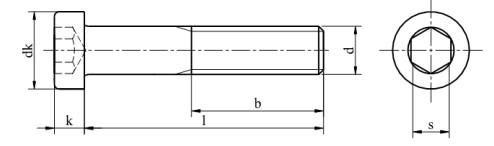 Śruba DIN 7984 PG kl.010.9 Bez Pokrycia M3-M20