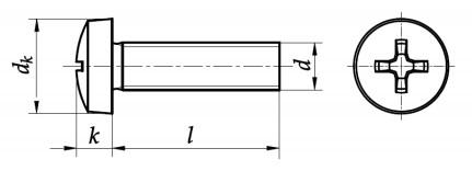 Wkręt do metalu DIN 7985 Stal Nierdzewna A2 (Ph)