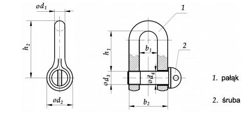 Szekla DIN 82101A Ocynk Galwaniczny
