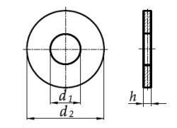 Podkładka DIN 9021 Stal Kwasoodporna A4 M13-M26