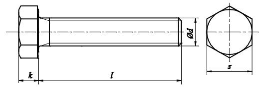 Śruba DIN 933 Stal Kwasoodporna A4 M3-M18