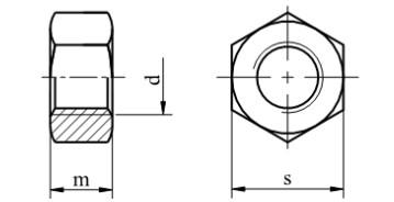 Nakrętka DIN 934 (DROBNOZWOJNA) kl.8 Bez Pokrycia M8-M33