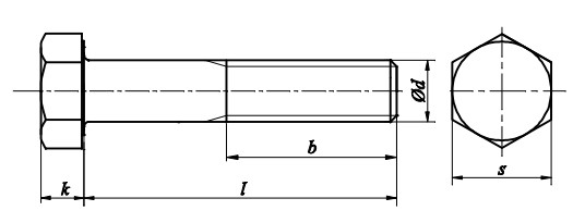 Śruba DIN 960 kl.8.8 Ocynk Galwaniczny