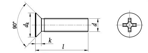 Wkręt do metalu DIN 965,PN 82208 Mosiądz