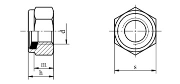 Nakrętka DIN 985 kl.8 Ocynk Galwaniczny M24-M48