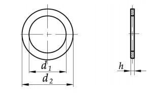 Podkładka dystansowa PS DIN 988 (4x8 do 15x21) stal nierdzewna A2