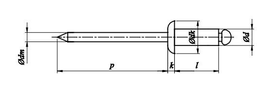Nit ISO 15977 Aluminium/Stal (NM)