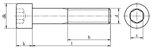 Śruba ISO 21269,DIN 912 PG kl.12.9 Bez Pokrycia M8-M24