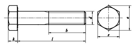 Śruba ISO 4014/EN 15048 kl.8.8 Ocynk Galwaniczny