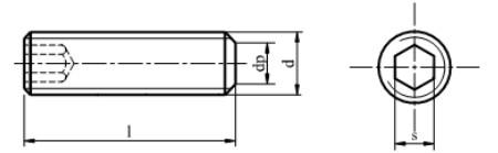 Śruba ISO 4026,DIN 913 kl.45H Bez Pokrycia