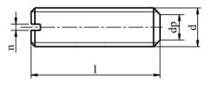 Śruba ISO 4766 Mosiądz