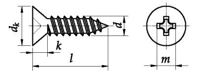 Wkręt do metalu (BLACHOWKRĘT) ST ISO 7050C Stal Nierdzewna A2