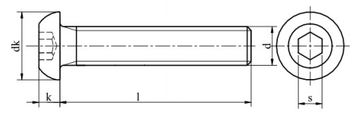Śruba ISO 7380 -1 PG kl.010.9 Ocynk Galwaniczny