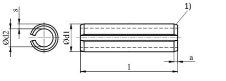 Kołek sprężysty ISO 8752 A2