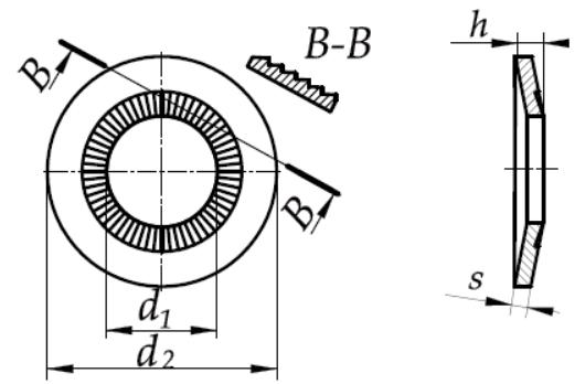 Podkładka kontaktowa poszerzona L NFE 25-511 Ocynk Płatkowy