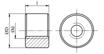 Nakrętka cylindryczna trapezowa, stal nierdzewna A1, Tr12-Tr32