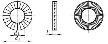 Podkładka Nord-Lock (poszerzona) Ocynk Płatkowy M18-M36