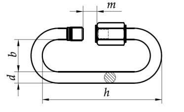 Ogniwo z nakrętką Ocynk Galwaniczny