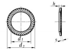 Podkładka Schnorr (S) czerniona M14-M36