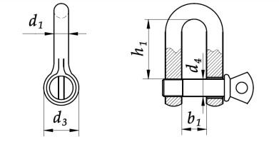 Szekla o zwiększonej wytrzymałości 0,5T-3,2T Ocynk Galwaniczny
