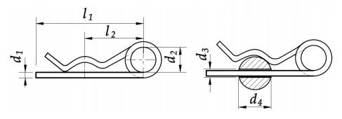 Zawleczka sprężysta podwójna Ocynk Galwaniczny