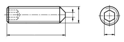 Śruba ISO 4027,DIN 914 kl.45H Bez Pokrycia (DROBNOZWOJNA)