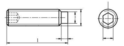 Śruba ISO 4028,DIN 915 Stal Nierdzewna A2