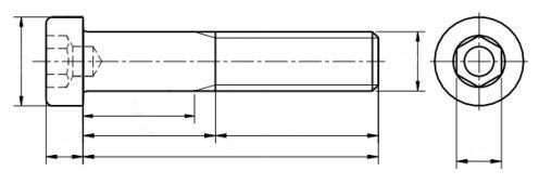 Śruba DIN 6912 NG kl.08.8 Ocynk Galwaniczny M4-M12