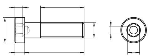 Śruba DIN 6912 PG kl.08.8 Ocynk Galwaniczny